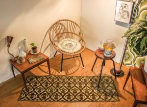 rug in vintage living room